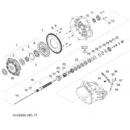 MOTO GUZZI Ressort godet embrayage 2A000816