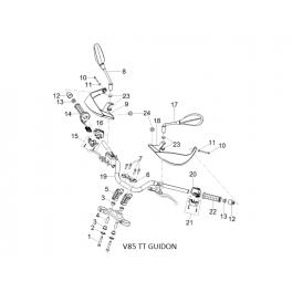 APRILIA/MOTO GUZZI Vis TCEI M10x60 enduite guidon 2B004798