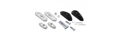 Kit fixations & tampons crash pads